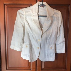 Juicy Couture off white linen blazer